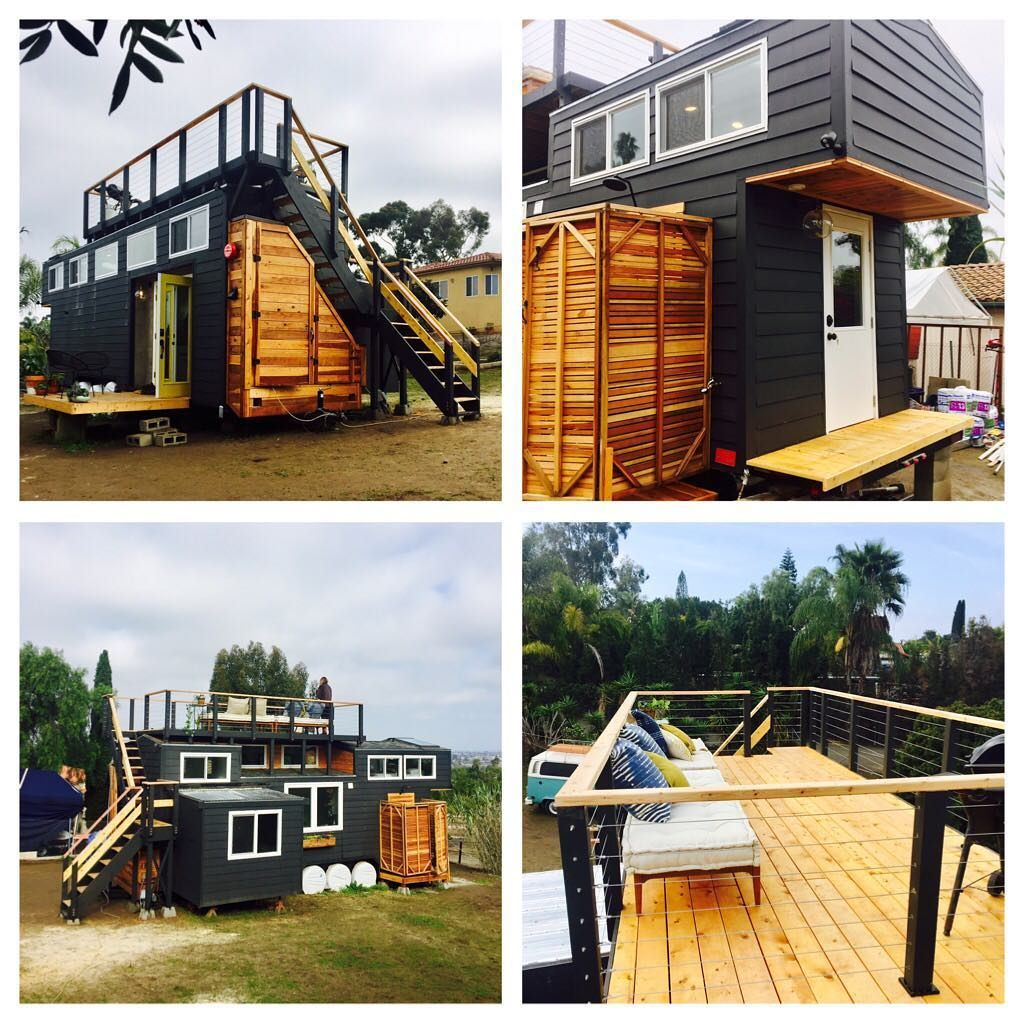 This Is One Couple S Tiny House On Wheels That S Completely Custom It S Nicknamed The Paspin Which Means Little Bug T House Tiny House Tiny House Big Living