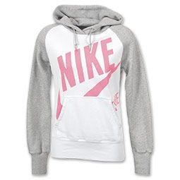 Nike Connect Gym Women's Hoodie in WhitePinkGrey Size M in