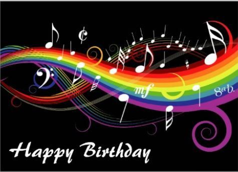 Rainbow Of MUSIC Notes To Share Your Love A Musician Friend Birthday Cake QuotesMusical