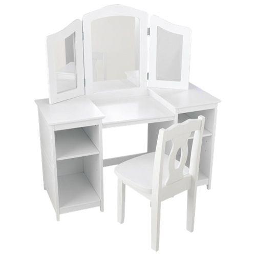 Coiffeuse et chaise de luxe de KidKraft - Blanc   - En ligne seulement