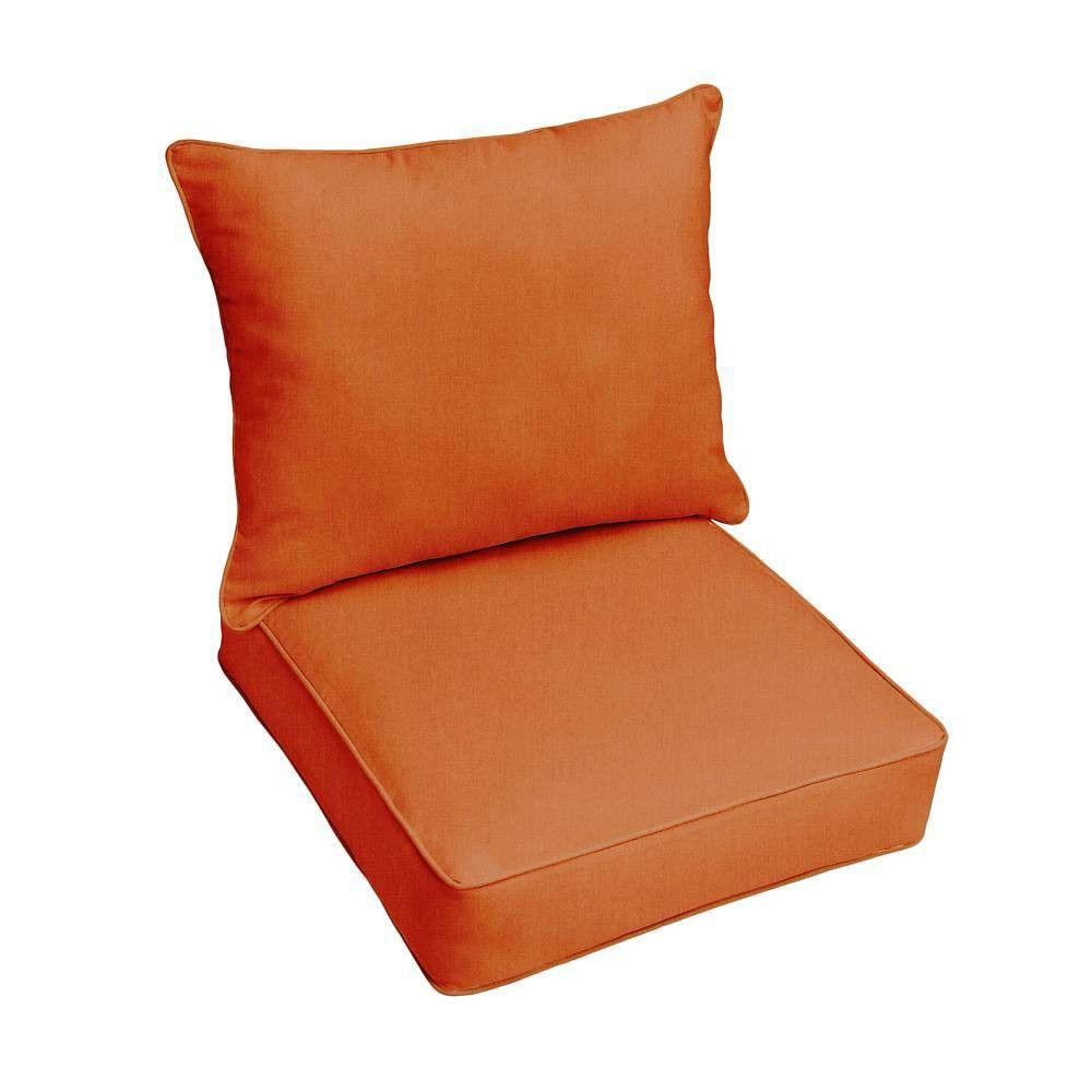 Sunbrella Outdoor Seat Cushions Rust Orange Outdoor Seat Cushions Patio Chair Cushions Outdoor Cushions Orange outdoor chair cushions