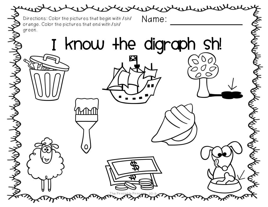 Pin By The Printable Princess On 1st Grade Activities Ch Words Beginning Sounds Worksheets Worksheets Free