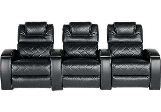 Crescent Valley Black 3 Pc Power Reclining Sectional
