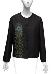 The Met Store - Embroidered Peacock Feather Jacket