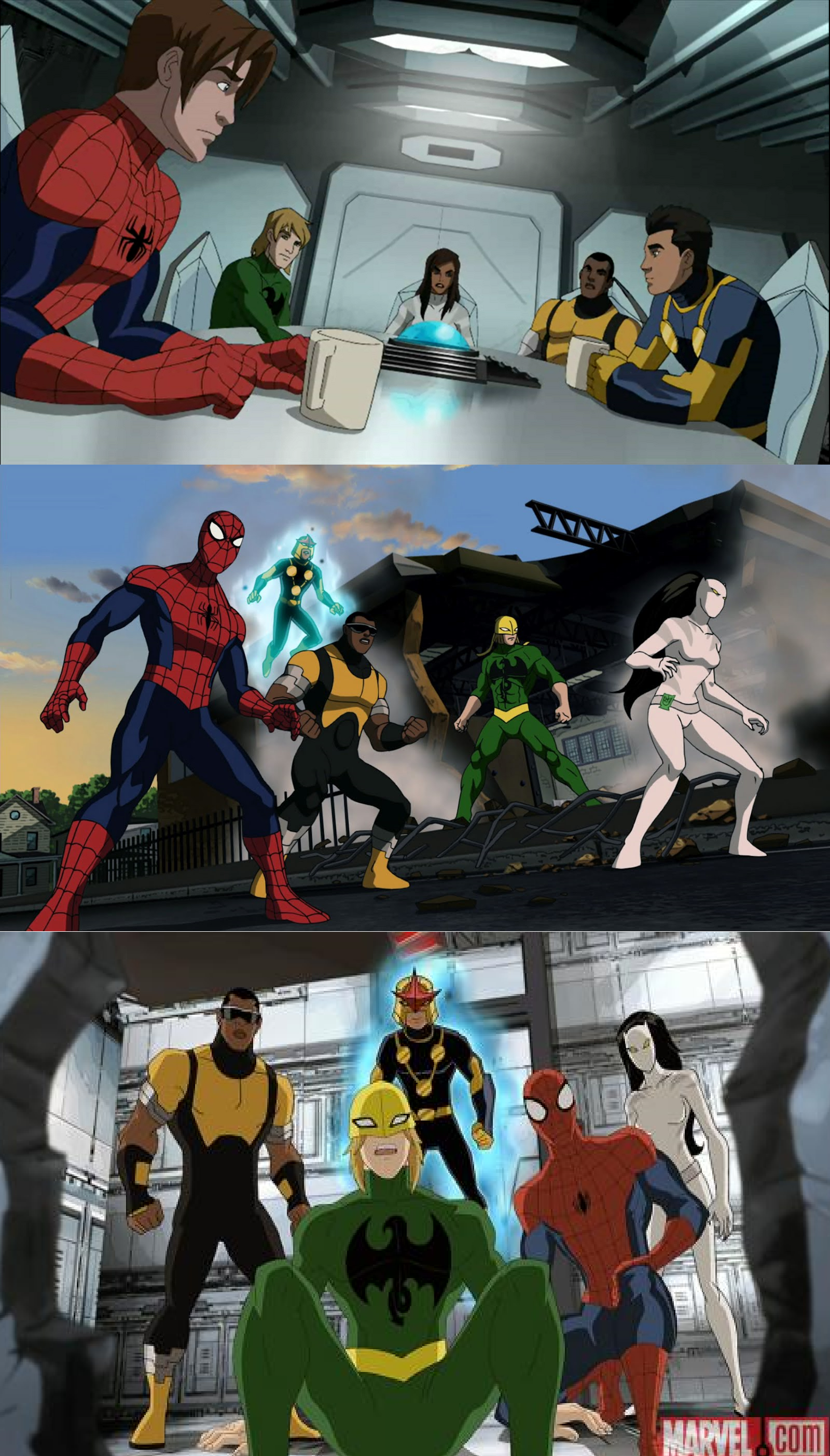 ultimate spider man (luce cage, ava ayala, danny rand and sam