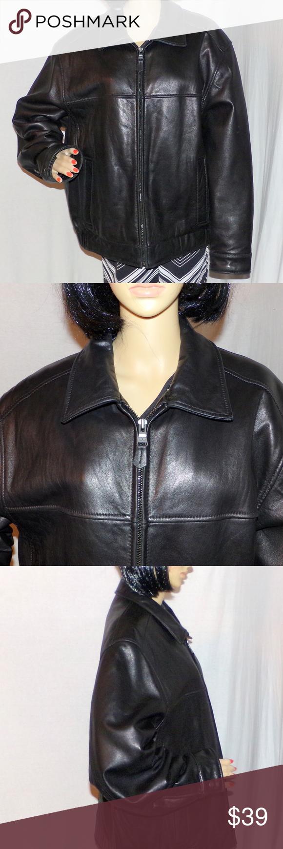 Men's Dockers Lambskin Leather Jacket Size XL Coat Men's