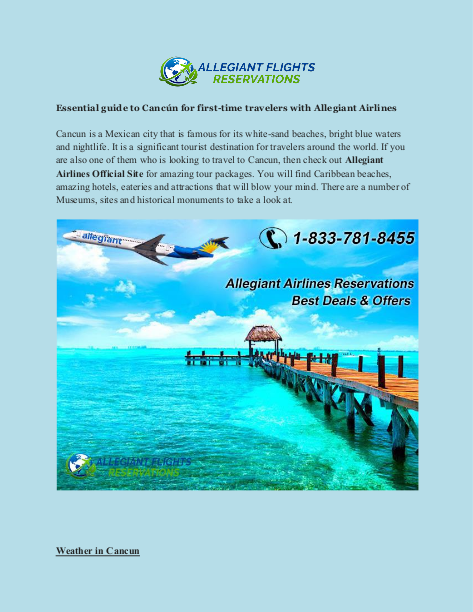 Essential Guide To Cancun For First Time Travelers With Allegiant Airlines Time Travel Visit Cancun Tourist Destinations