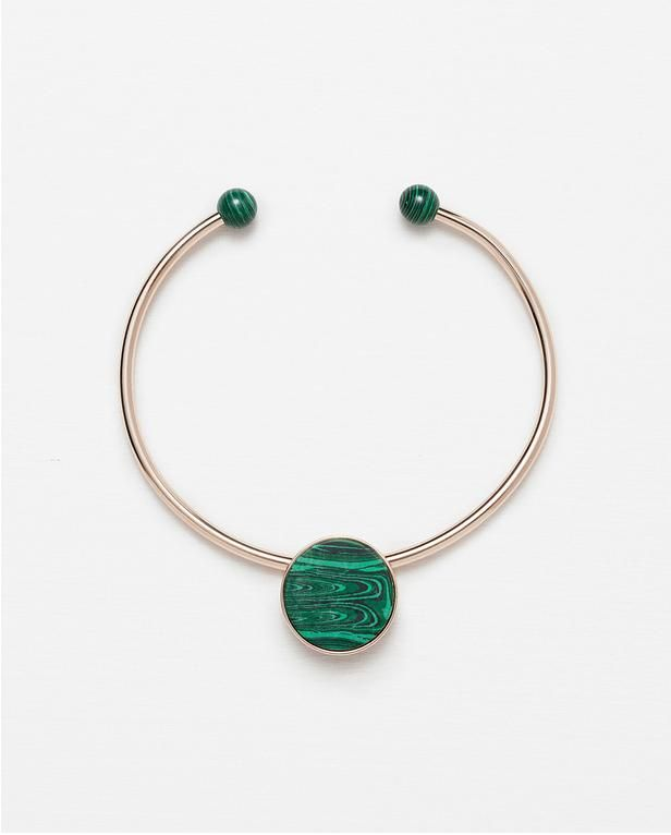 The Best 90s-Inspired Choker Necklaces to Shop Now | Adjustable choker with round stone, $7.99; Zara
