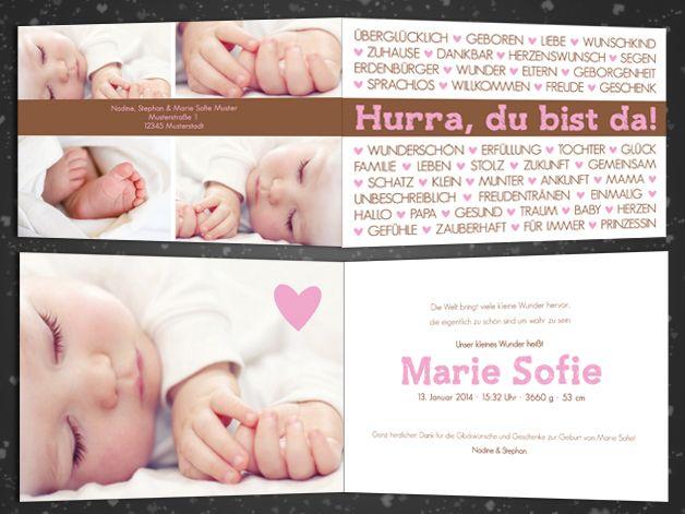 Individuelle Geburtskarten Baby Ist Da Karte Geburtskarten Baby Geburtskarten Dankeskarte Geburt