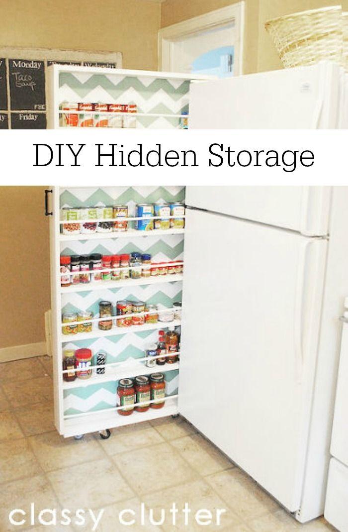 Diy Hidden Storage Canned Food Storage Cabinet Organizing