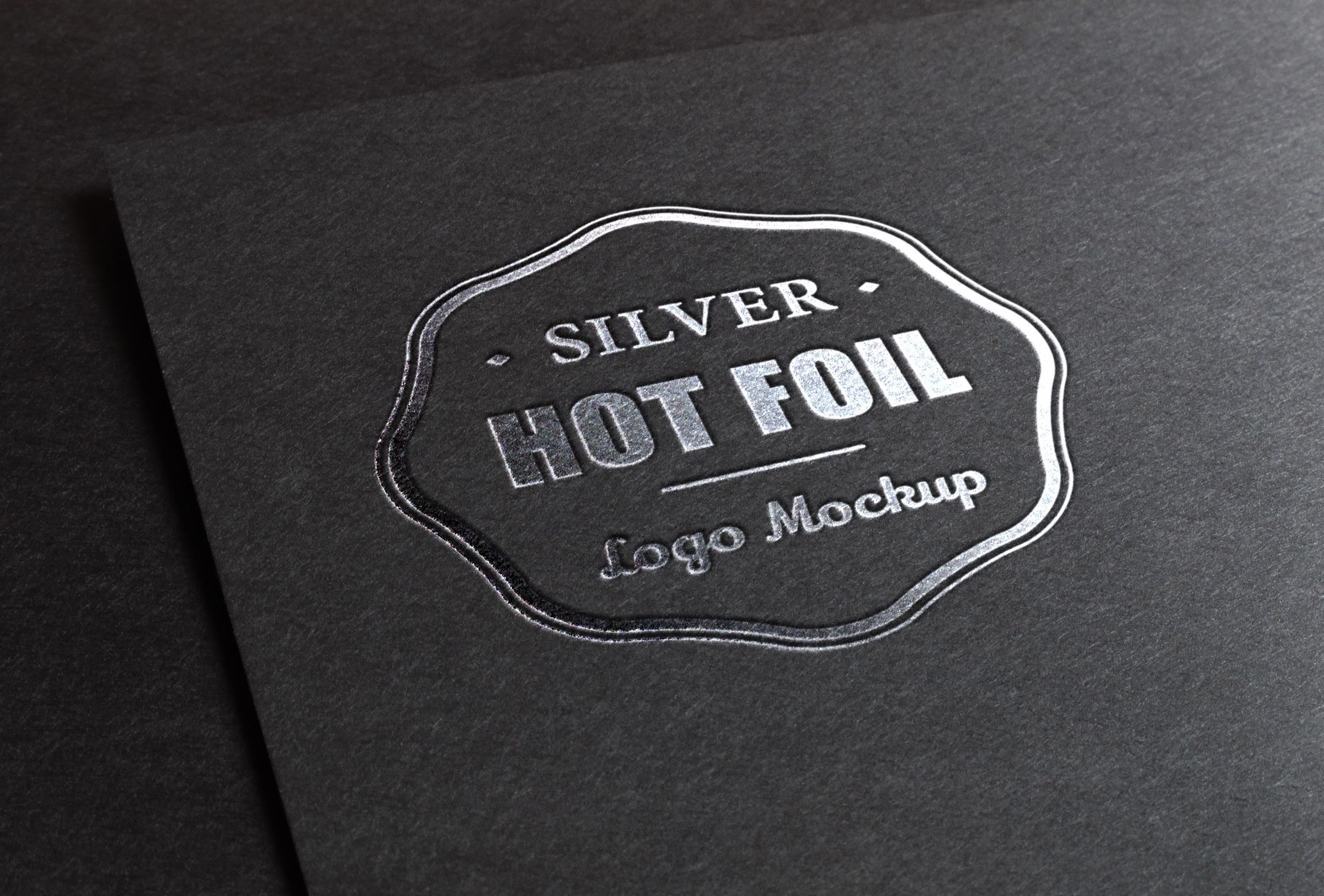 Silver Foil Stamp Logo MockUp Free Download Website
