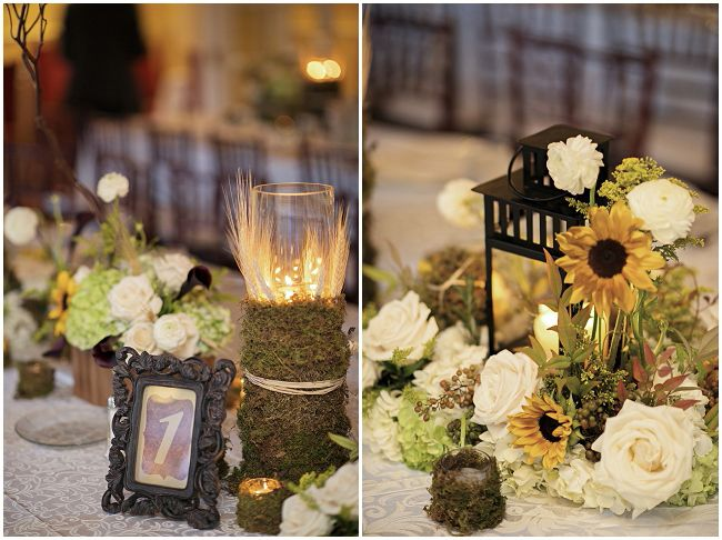 An Oh So Elegant Lake Lucerne Wedding Rustic Centerpieceswedding Decortable