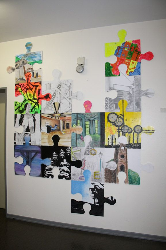 Classroom Collaboration Ideas ~ Puzzle art installation collaborative project germany