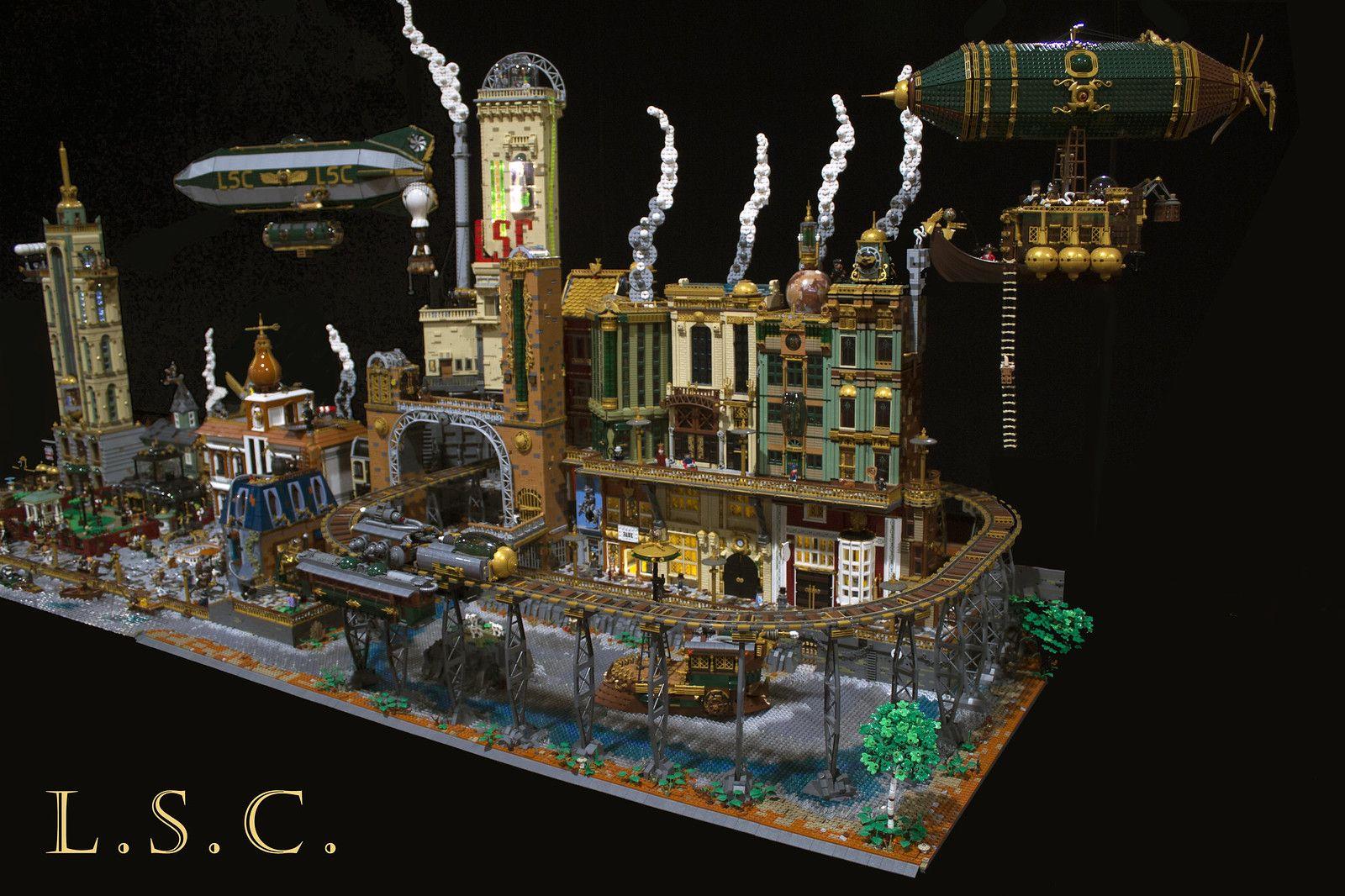 Lego Steam Company - Steampunk layout 2019 | Steampunk ...