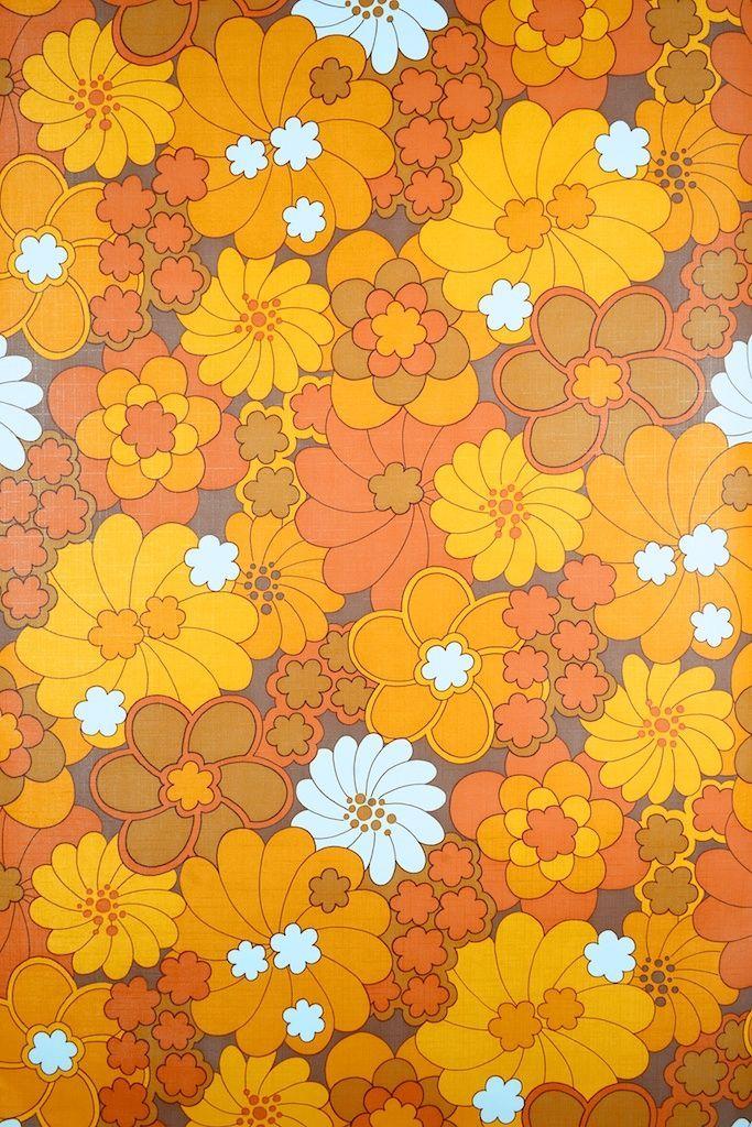 Vintage Retro Floral Vinyl Wallpaper Wallpapers vintage
