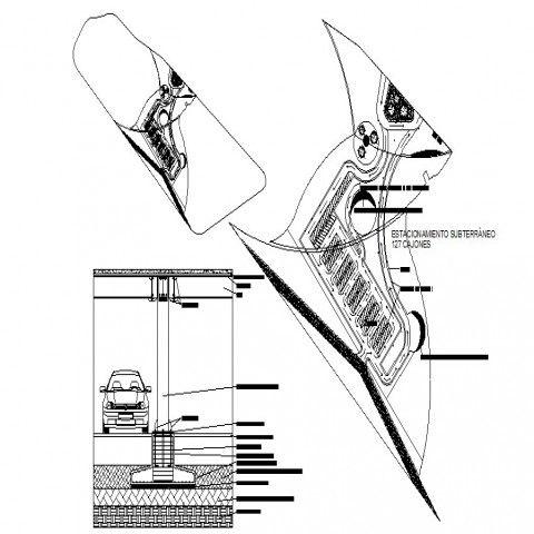 Diagram Of Building Parking Lot