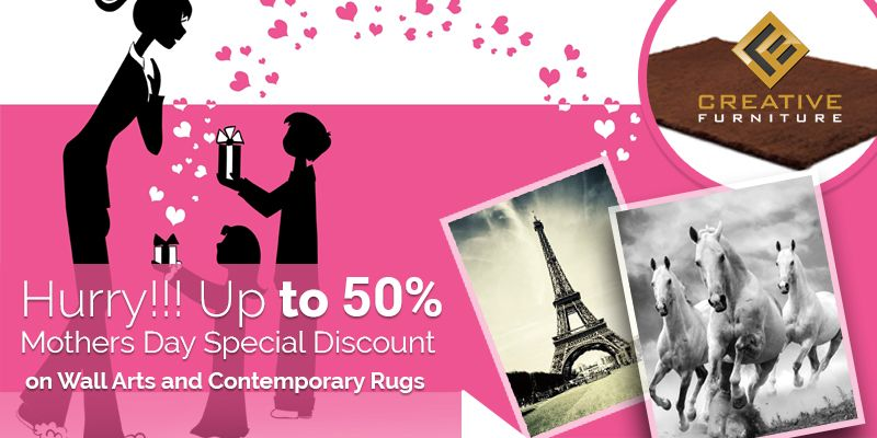 Mothers day discount on #WallArts and #ContemporaryRugs. Get up to ...