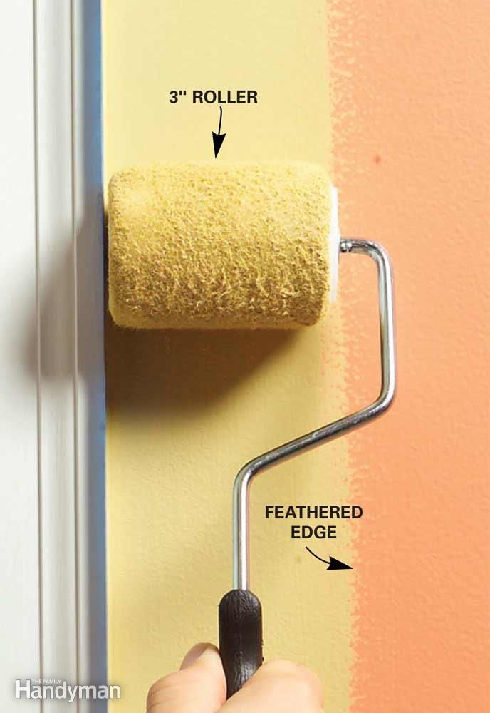 Roll Paint Along the Edges for Consistent Texture Paint tips