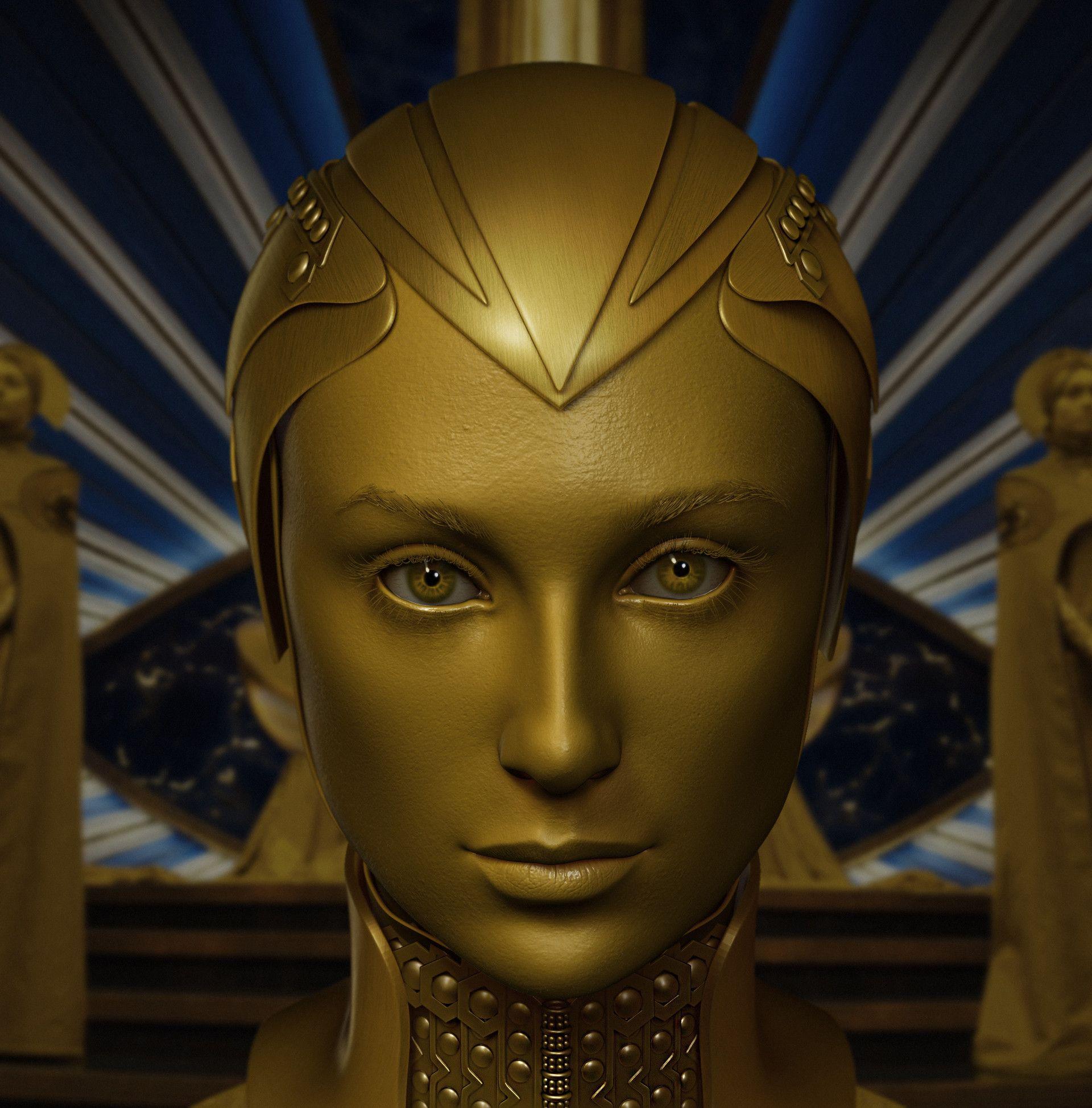 Likeness Sculpt Of Elizabeth Debicki As Ayesha Fantasy Character Design Concept Art Characters Elizabeth Debicki