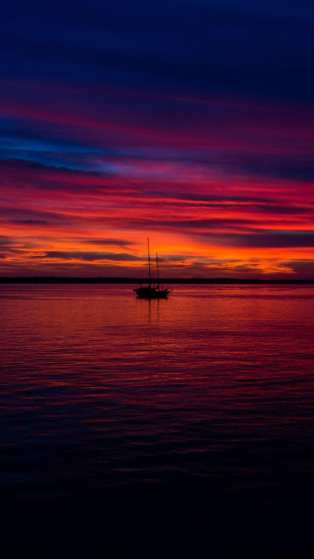 Pin On Nature Natural Wallpapers Wallpaper sunset sea boat sky coast