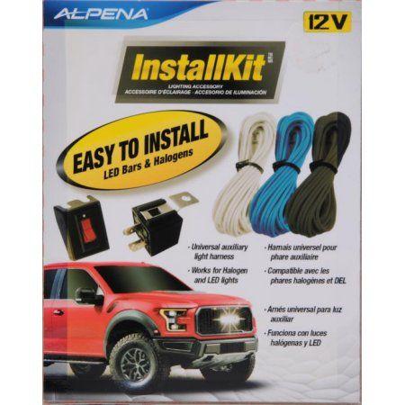 Alpena Universal Automortive Install kit On/Off rocker Switch 20amp on
