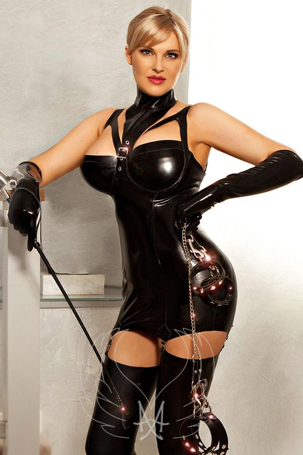 Leathered goddess fetish