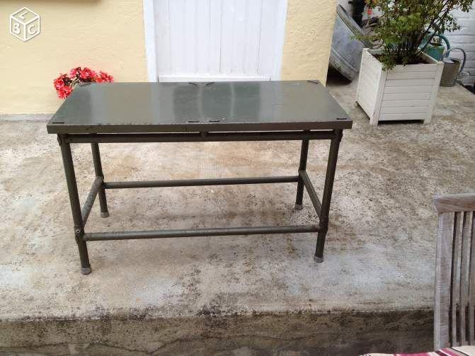 table basse flambo industriel ameublement yvelines - leboncoin.fr