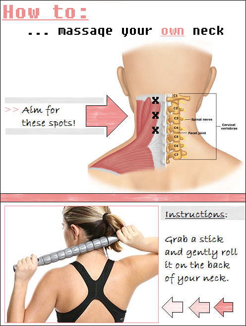 how to release tight neck muscles