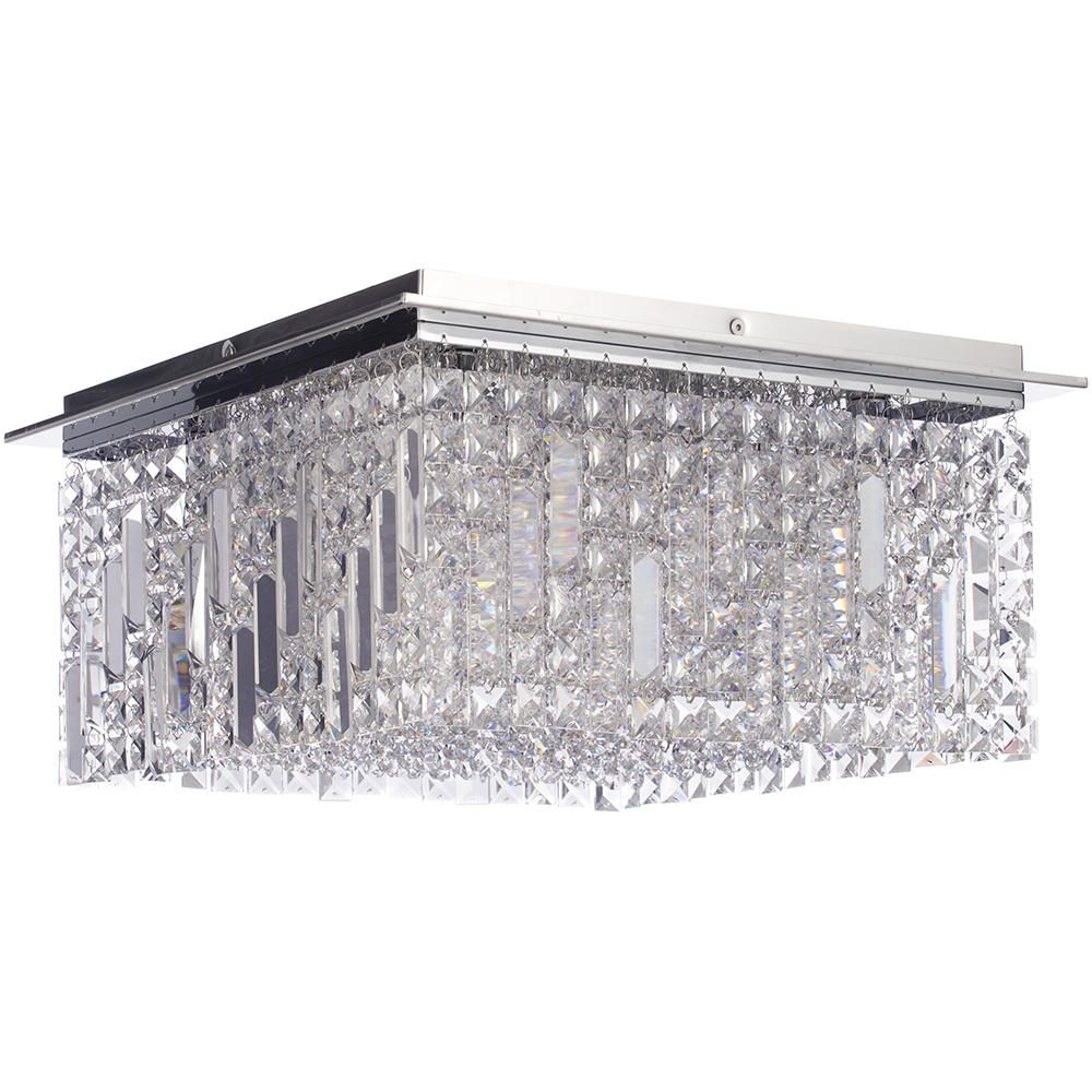 square bathroom ceiling light. Marquis By Waterford - Fane Led Large Square Flush Bathroom Ceiling Light :