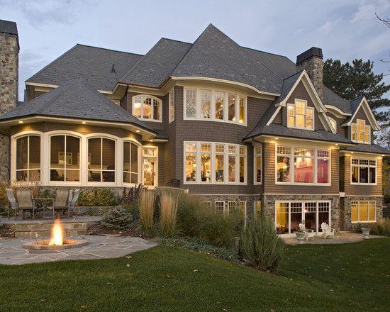 Exterior Hillside Walkout House Plans Design Pictures
