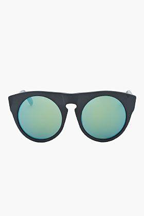2bda2e0634b04 ALEXANDER WANG Solid matte black cut-out sunglasses Gafas De Sol, Anteojos,  Accesorios