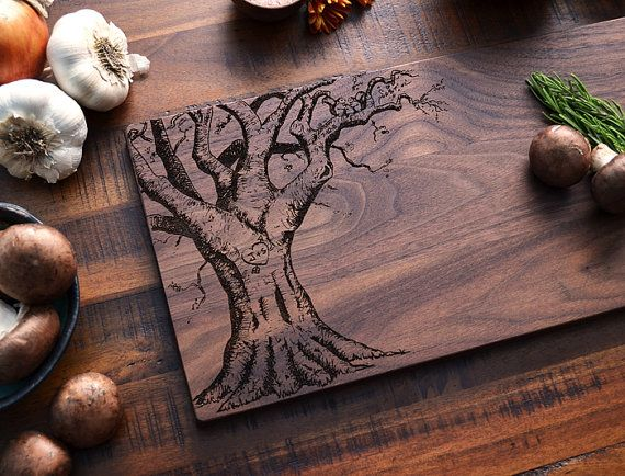 Unique Handmade Wedding Gifts: Custom Cutting Board, Personalized Valentines Day Gift For