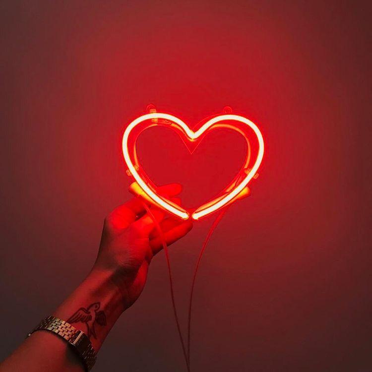 Neon Light Lights Heart Hearts Red Aesthetic Neon Aesthetic