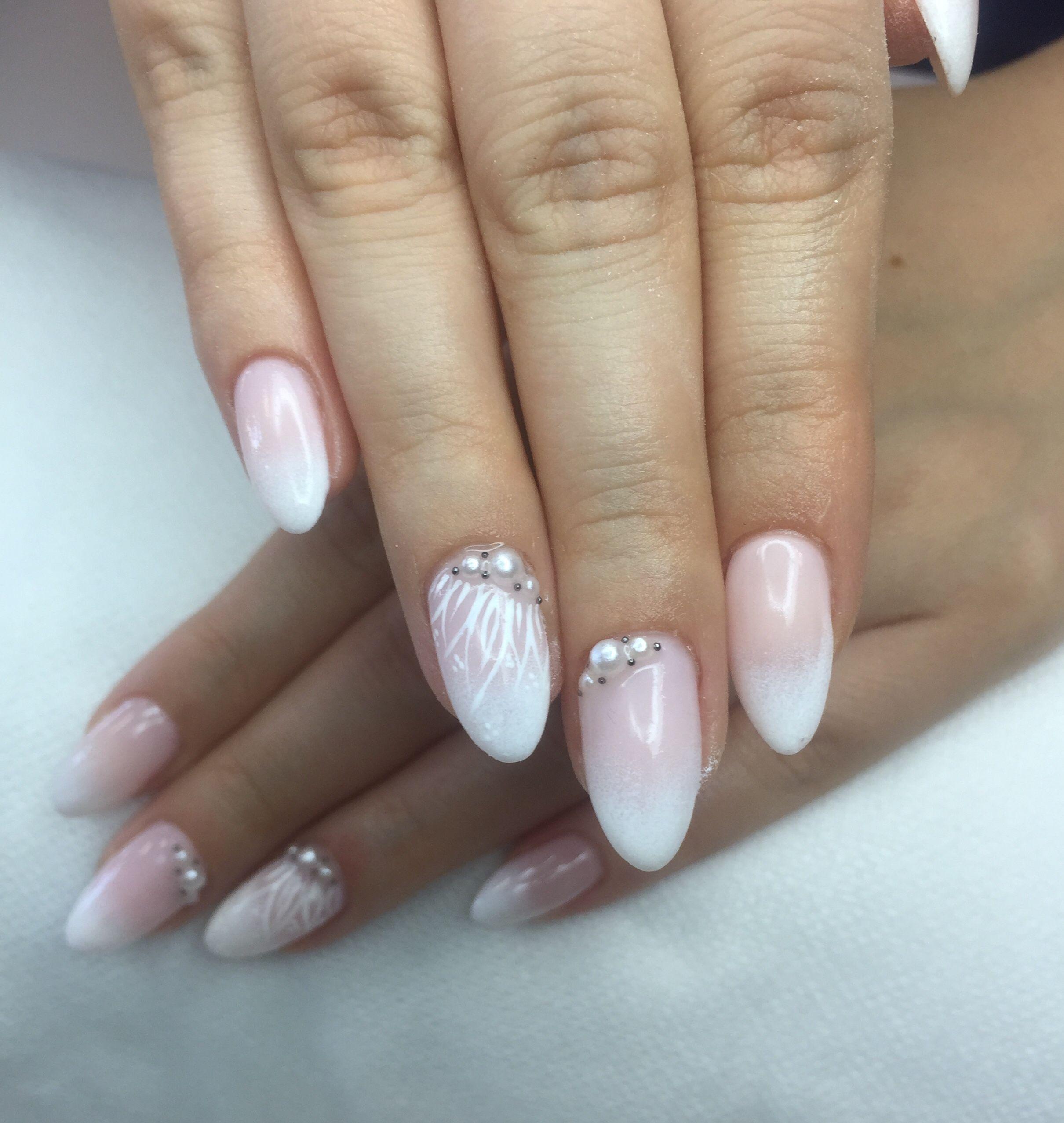 Nails Babyboomer Wedding Nails With Images