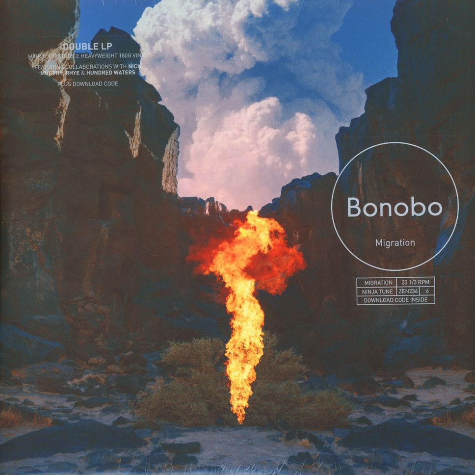 It's here! Simon Green aka Bonobo's new album »Migration«, his first since 2013's »The North Borders«! It is available on CD, 2LP and as 2LP Deluxe Edition and features Nick Murphy fka Chet Faker, Rhye and Hundred Waters.