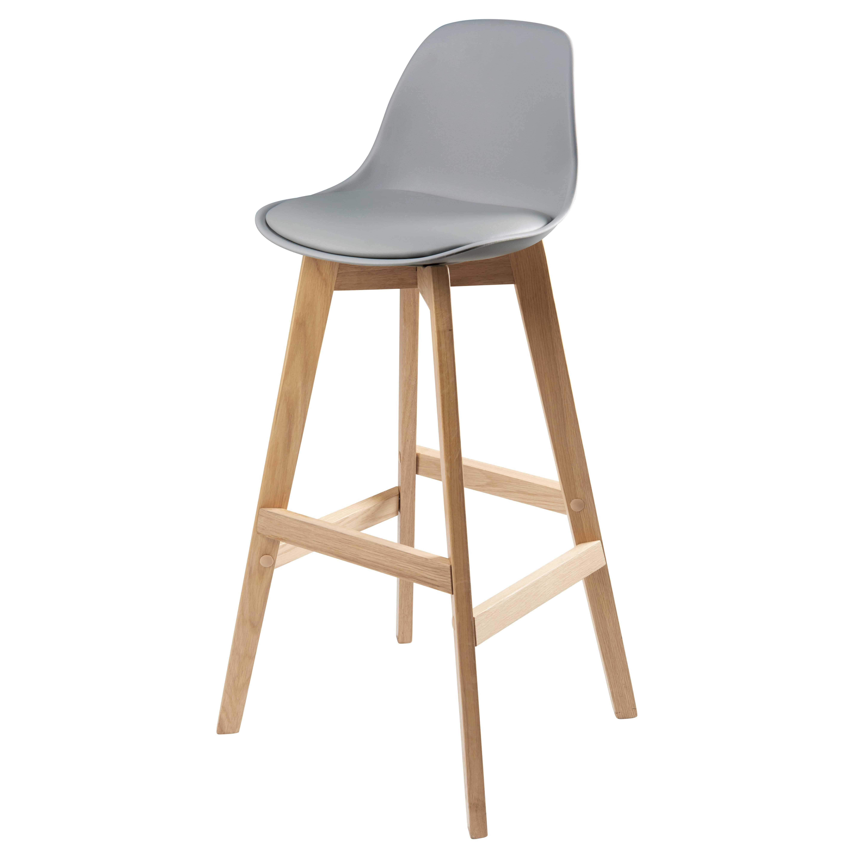 bar style scandinave et pour de chêneIdées Chaise grise 43LSAjqc5R