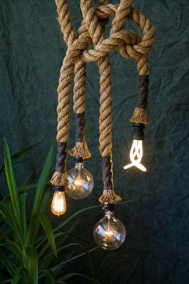 Wickellampe Mit 4 Birnen Lampen Loft Lampe Lampe Kuche