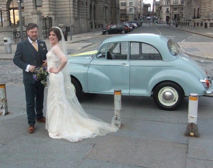 Lea Cars Morris Minor Wedding Car In Liverpool In March Leawedding Cars Wedding Car Wedding Mermaid Wedding Dress