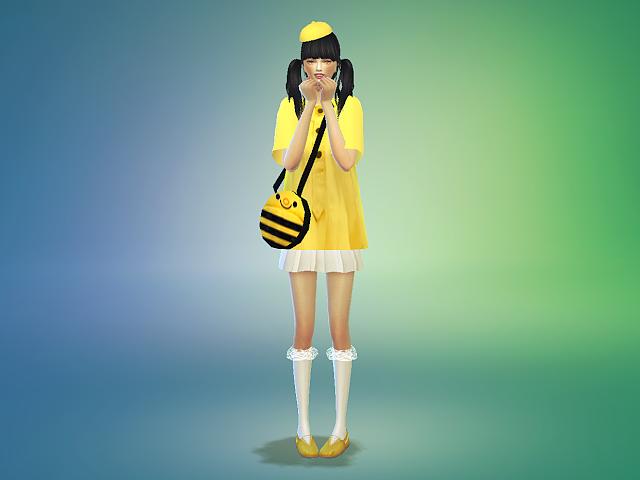 preschooler costume play_unisex_유치원복_남녀 의상&가방 | SIMS4 marigold