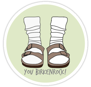 You Birkenrock Light Green  Sticker by aprilconway