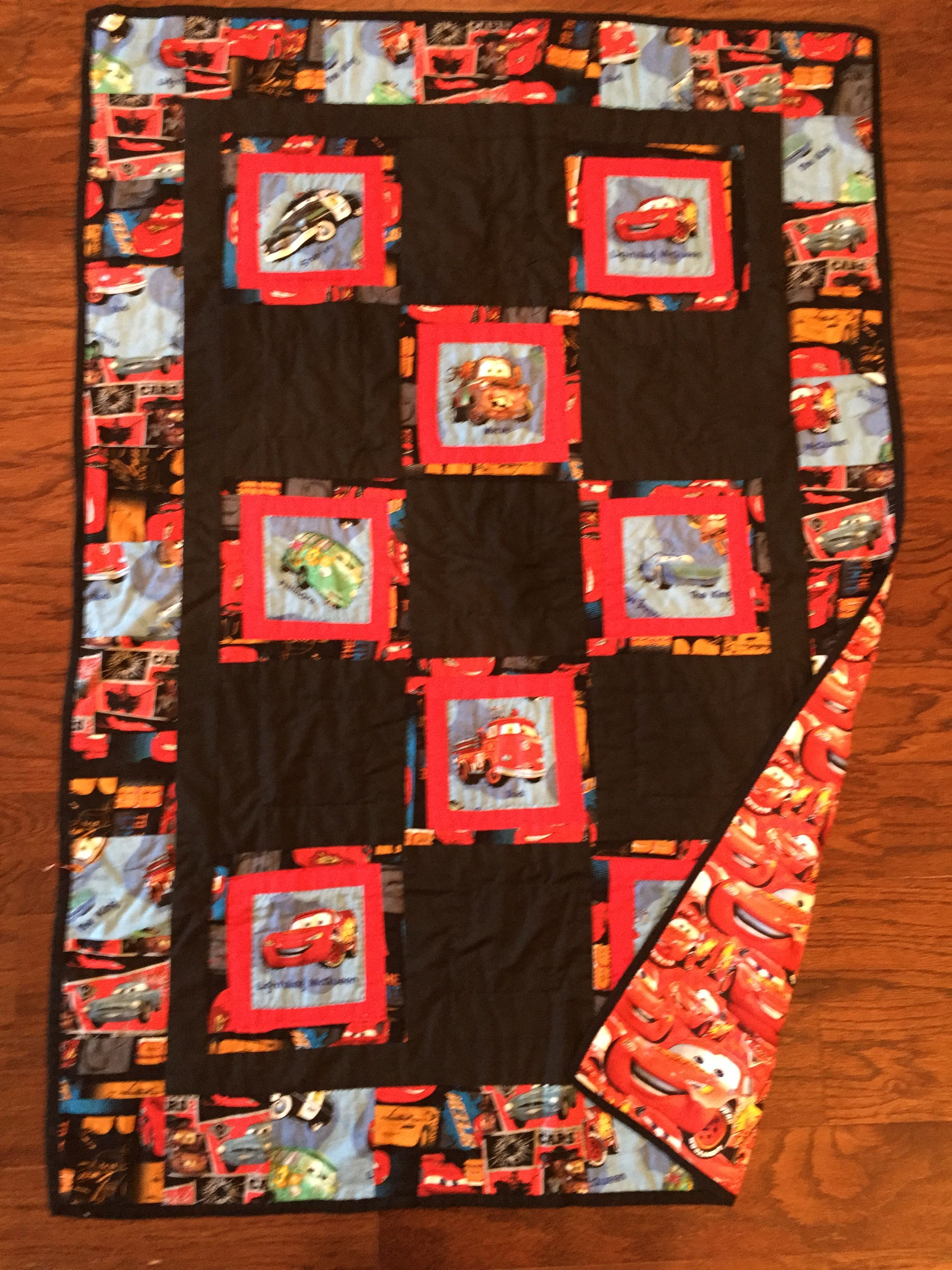 Cars character quilt for Levi 2015