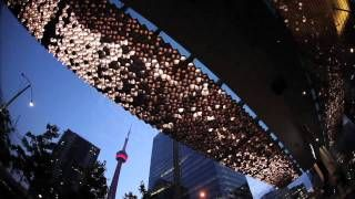 maple leaf canopy united visual artists - YouTube