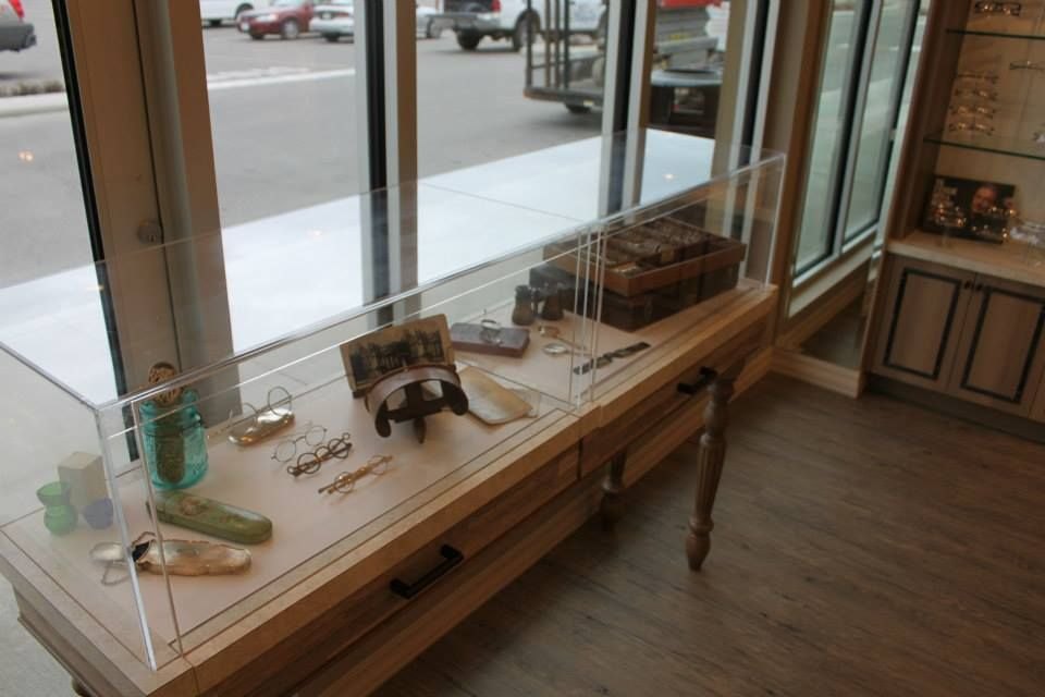 A custom display case designed by Barbara Wright Design
