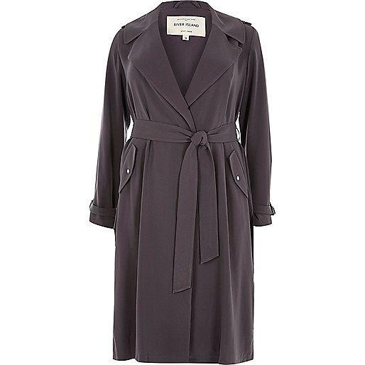Plus – Grauer Trenchcoat mit Gürtel   ☆ wishful wardrobe ... 8effc07dc7