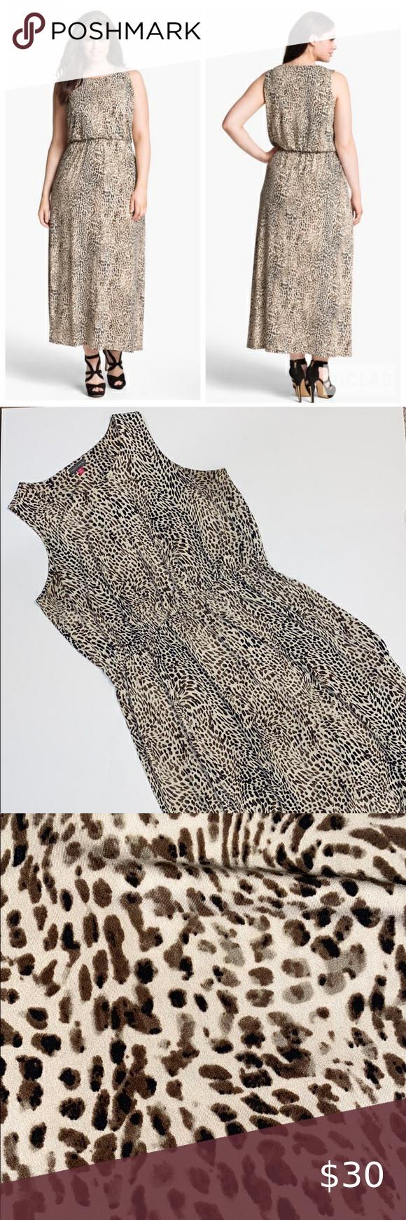 1x Vince Camuto Maxi Dress Leopard Maxi Dress Dresses Maxi Dress [ 1740 x 580 Pixel ]