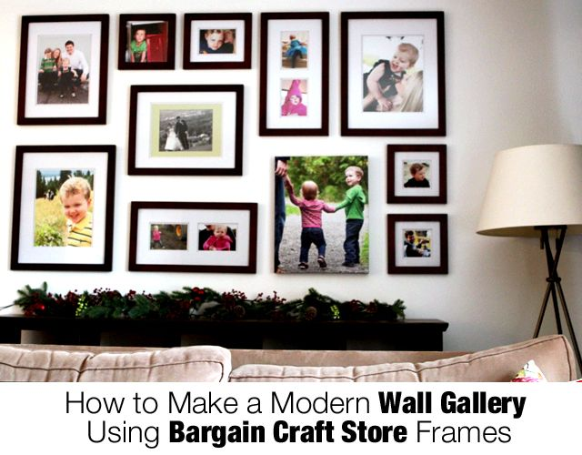 Photo Wall Gallery---I have got to do this during this summer. My ...