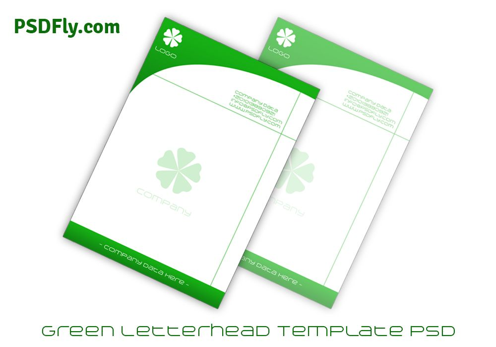 Green Letterhead Template PSD Letterhead Templates Pinterest - free business letterhead templates download