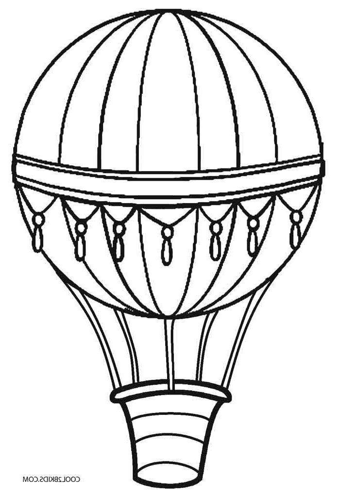 Balloon Coloring Pages Printable Hot Air Balloon Coloring ...