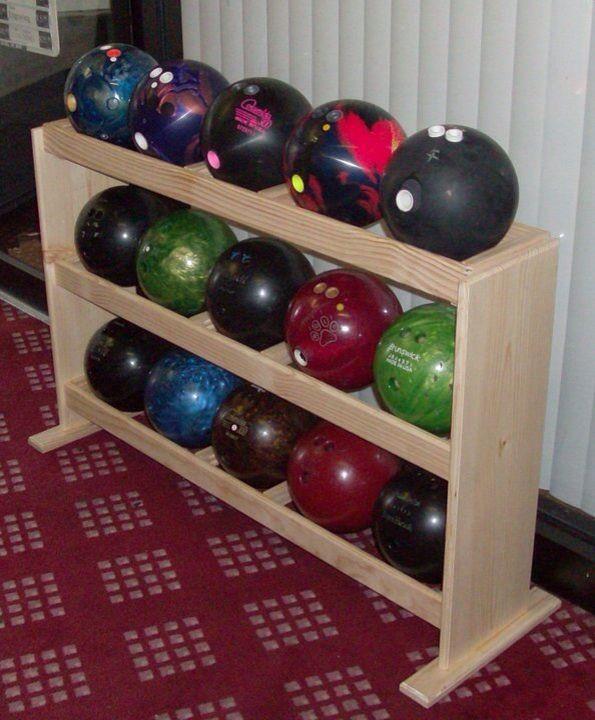 pbr 15 bowling ball rack loaded