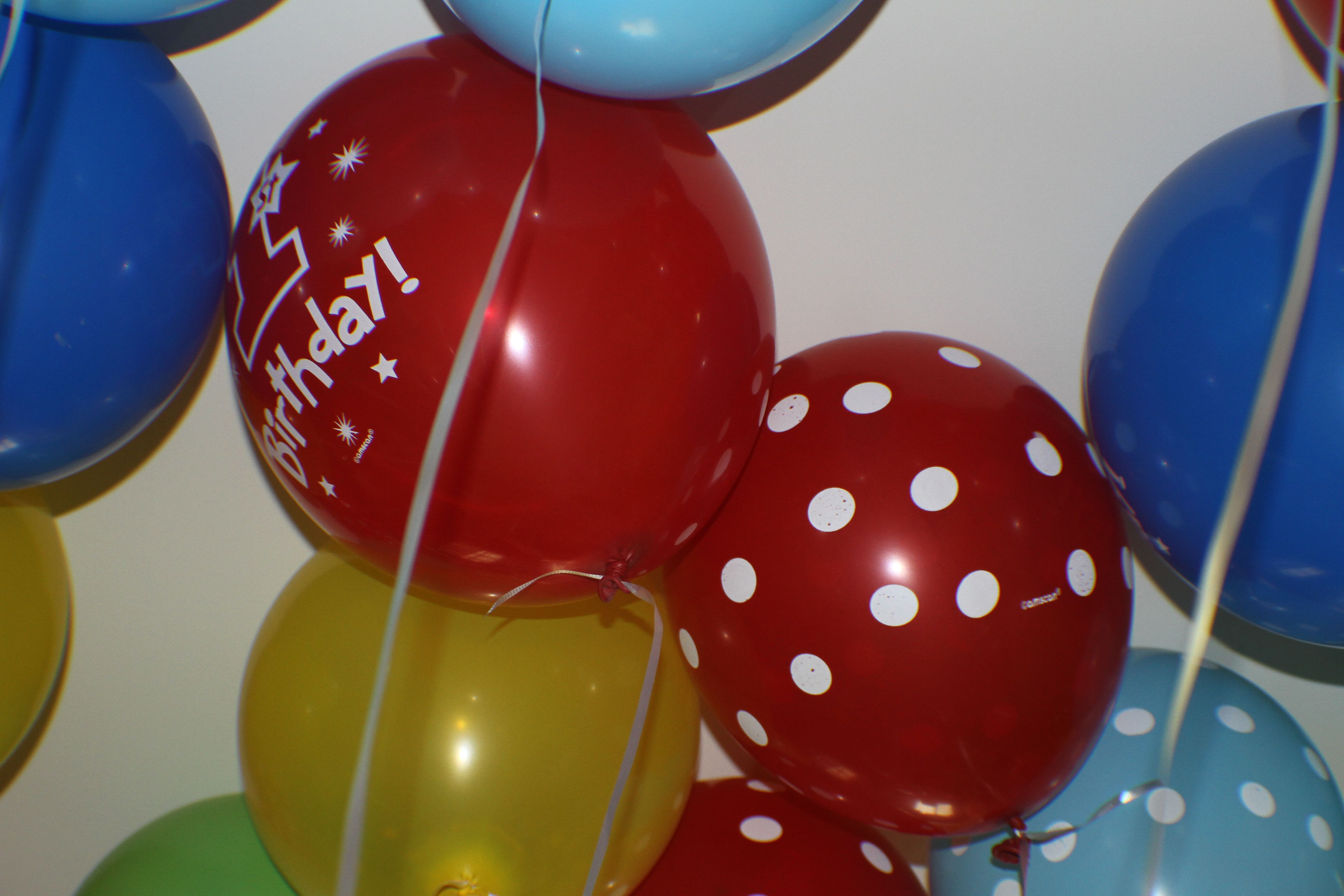 Lots of balloons! Party City Birthday party themes, 1st